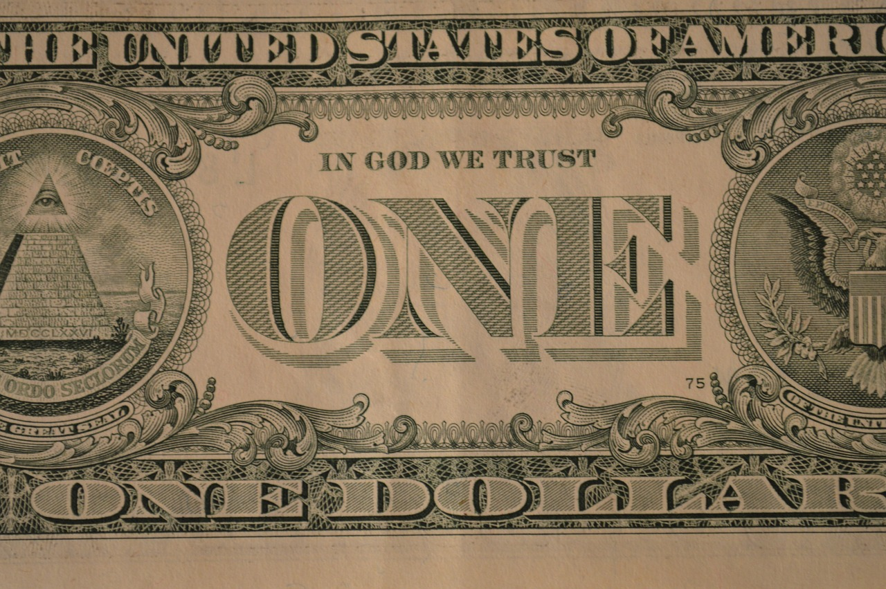 dollar one banknote free picture