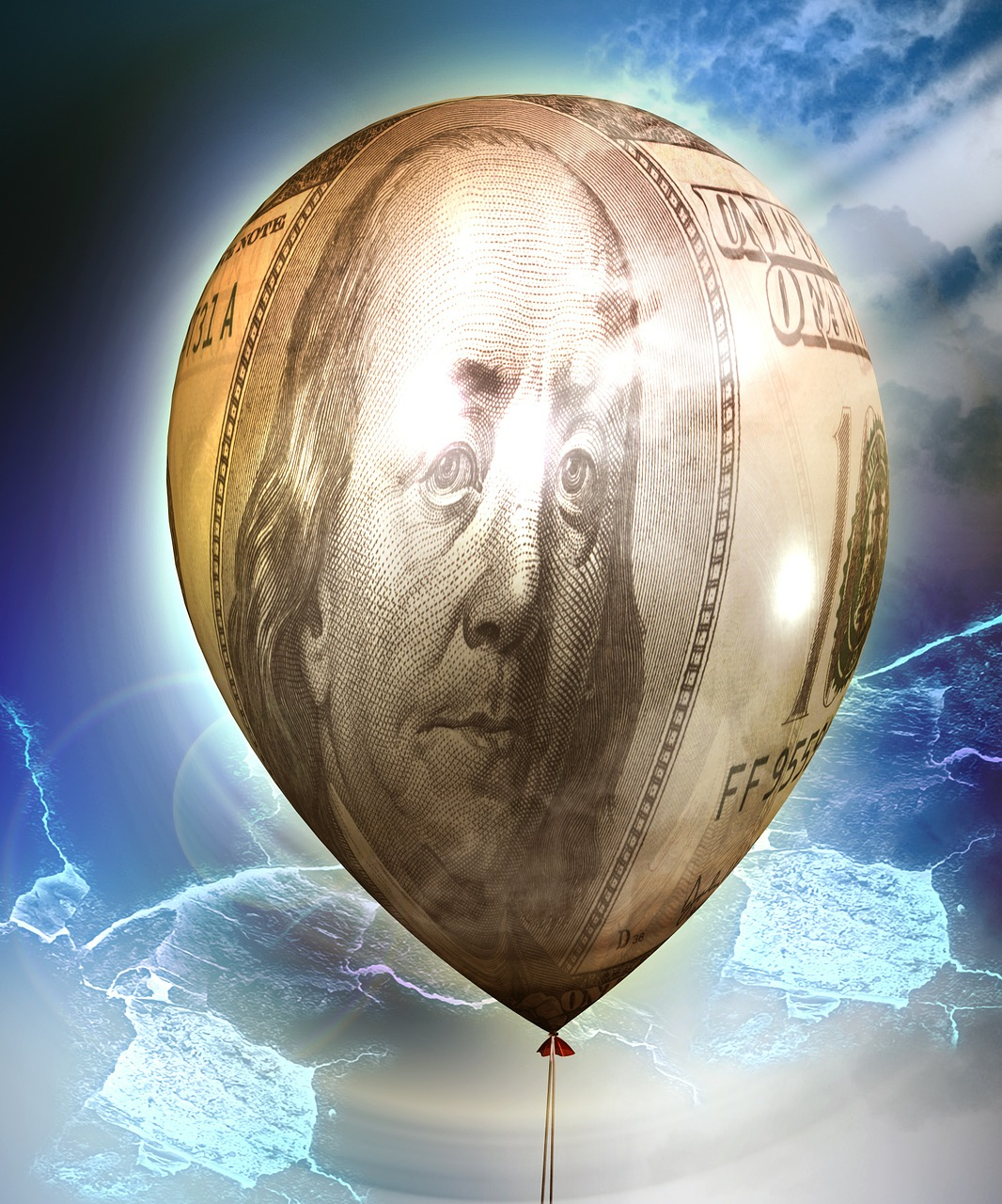 dollar inflation balloon free photo