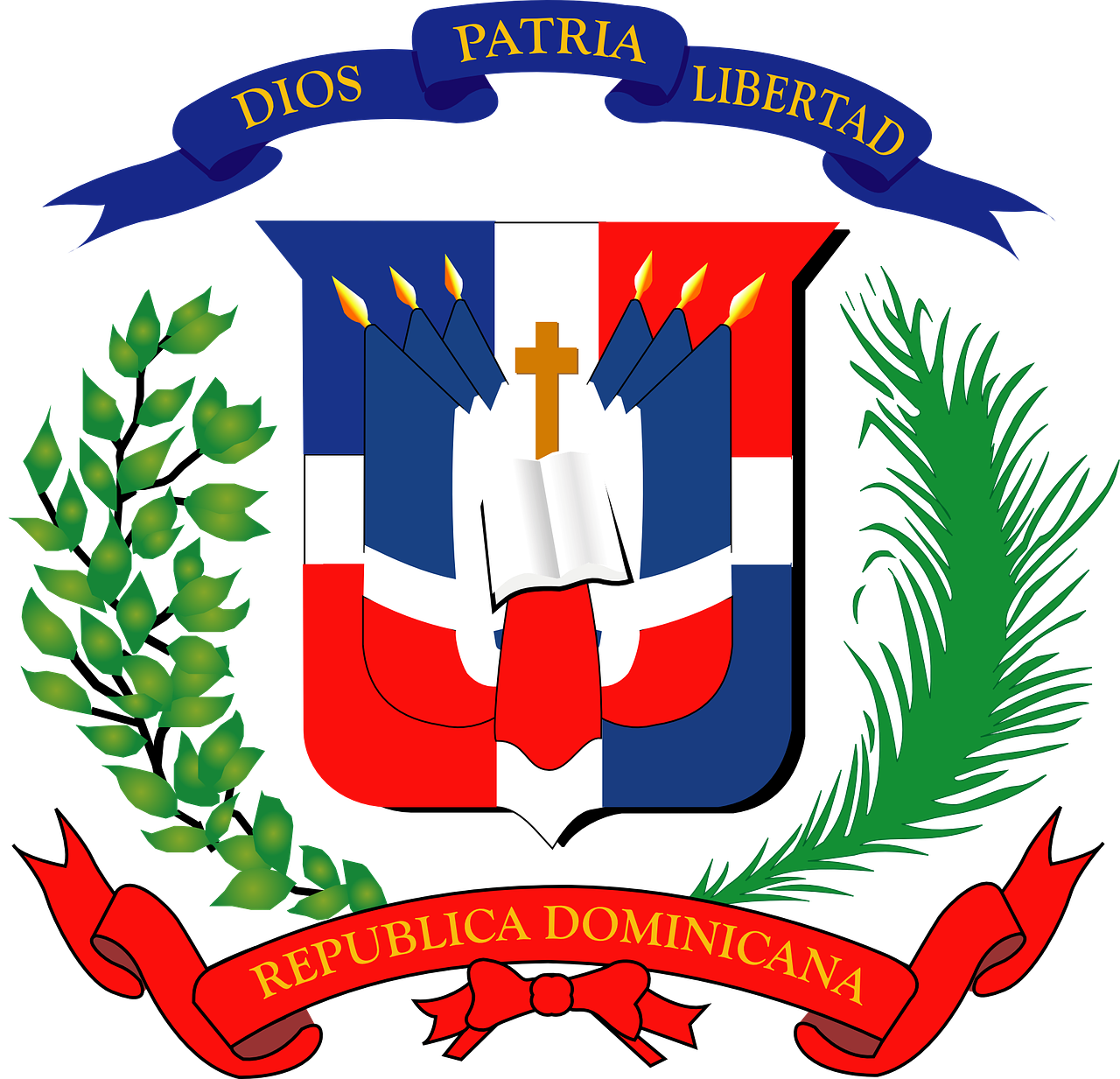 dominican republic coat of arms free photo