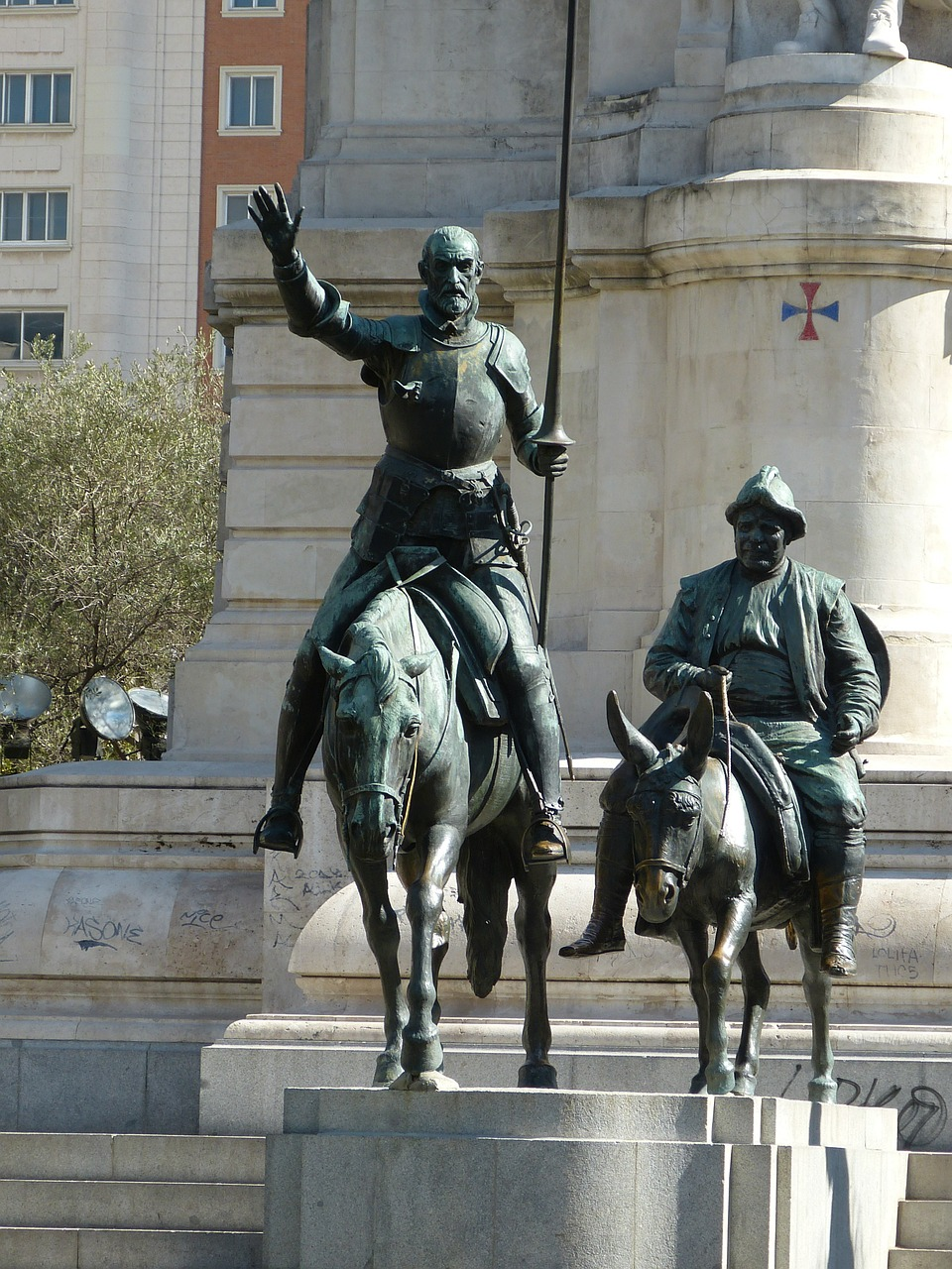 don quixote knight madrid free photo