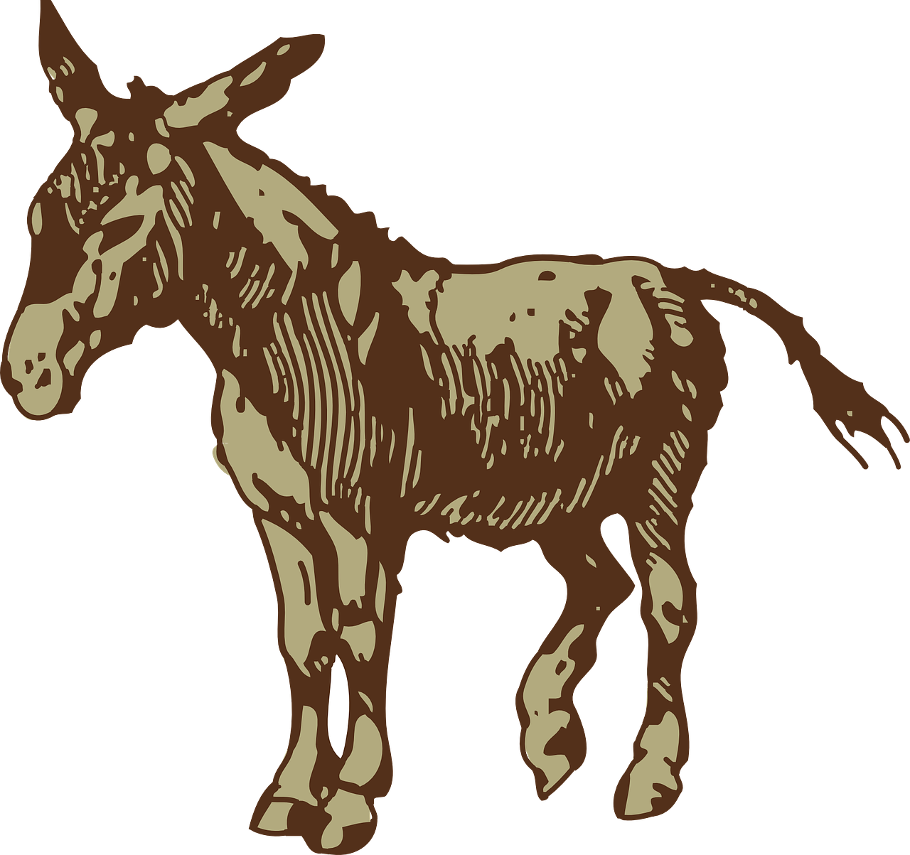 donkey,brown,animal,mammal,domesticated,wildlife,standing,still,stubborn,free vector graphics,free pictures, free photos, free images, royalty free, free illustrations, public domain