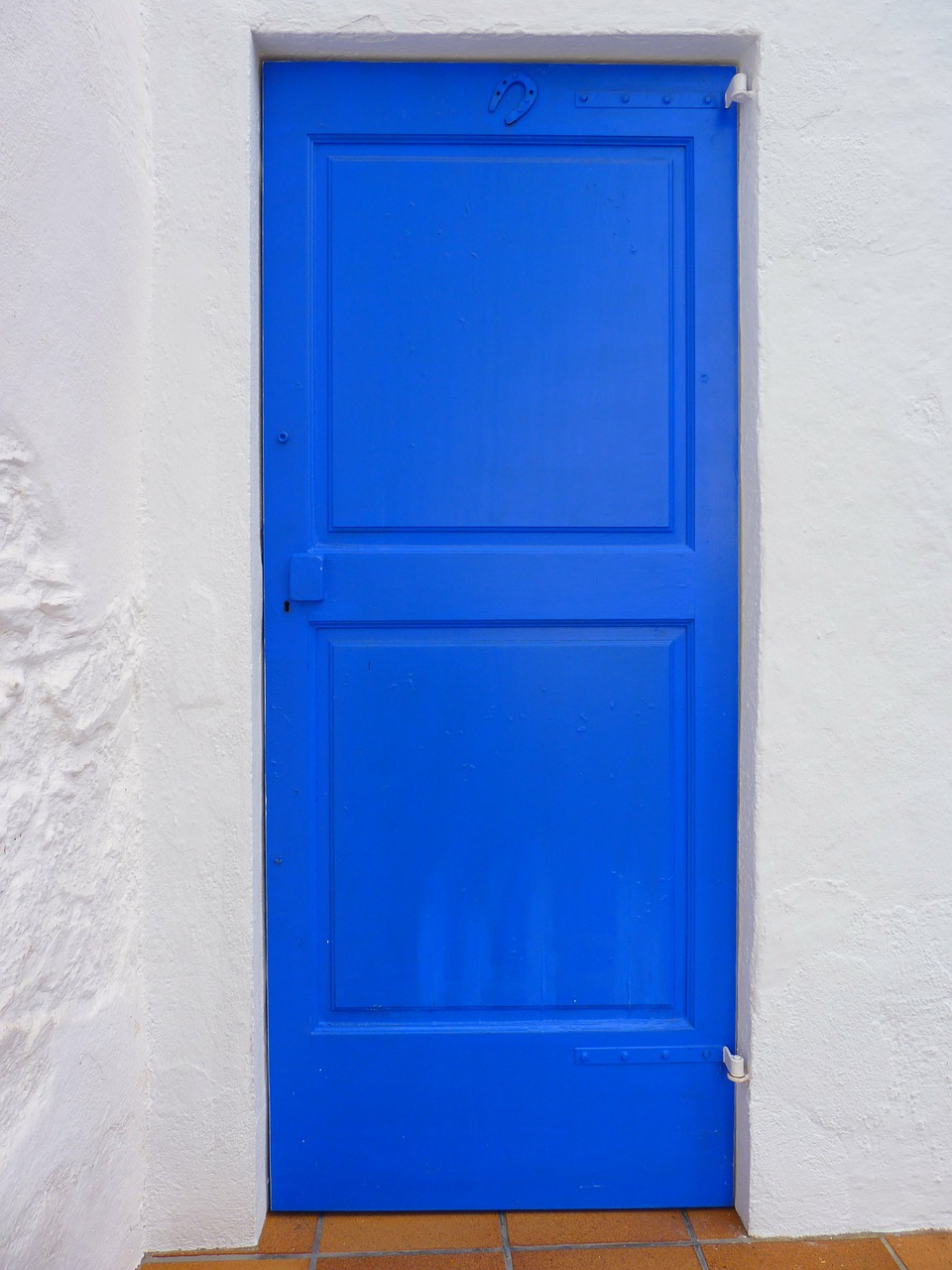 door blue wood free photo