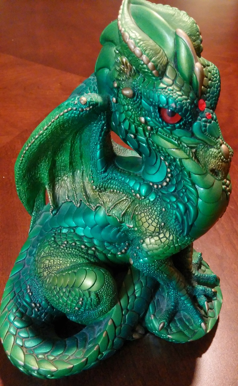 dragon green dragon mythical free picture