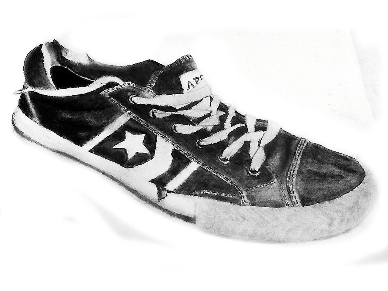 drawing shoe graphite free photo