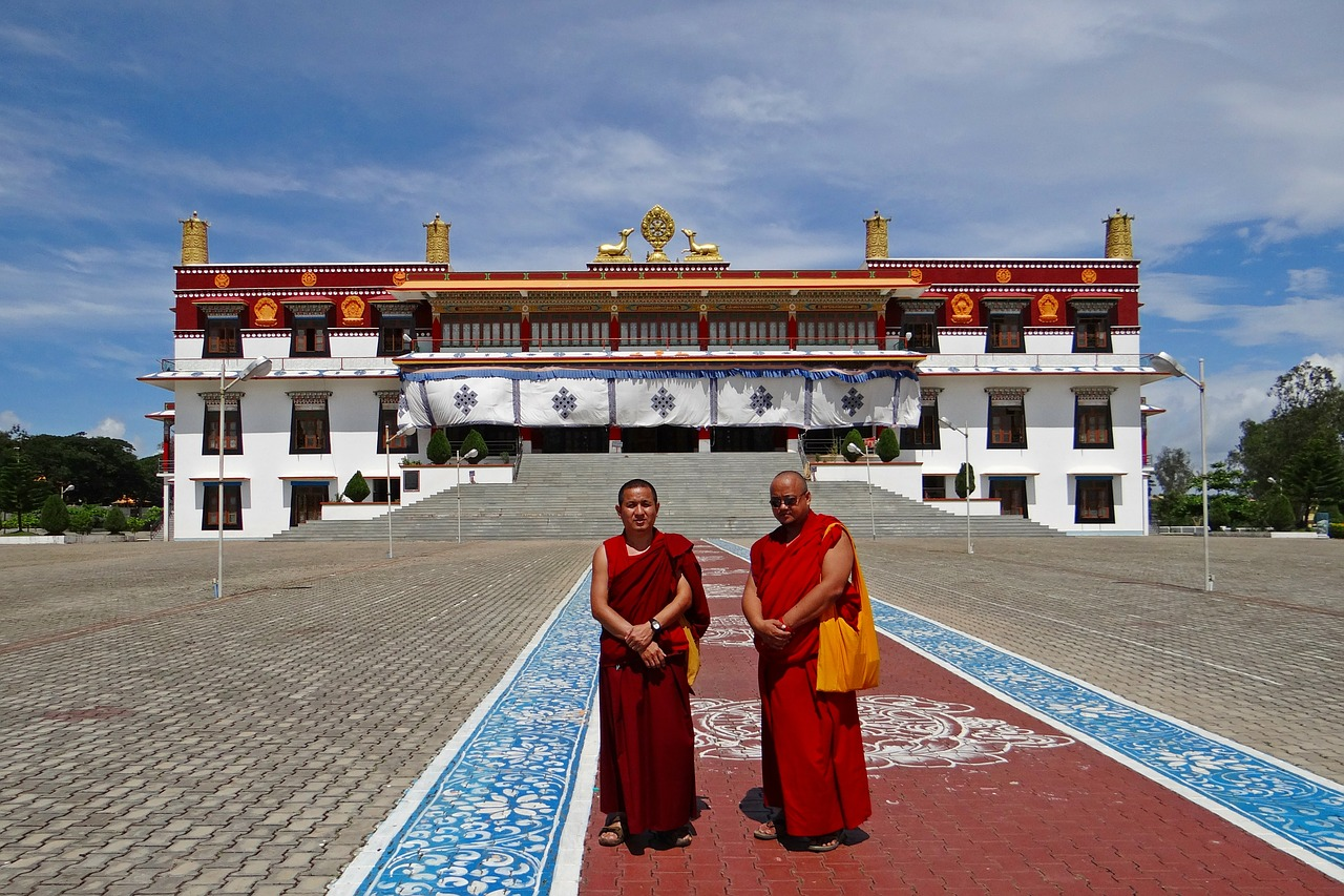drepung gomang monastery mundgod india free photo