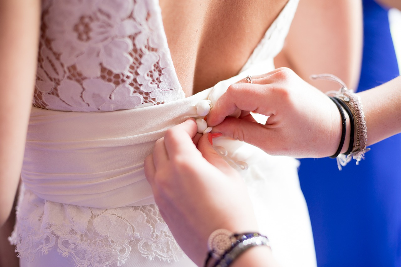 dress preparation bride free photo