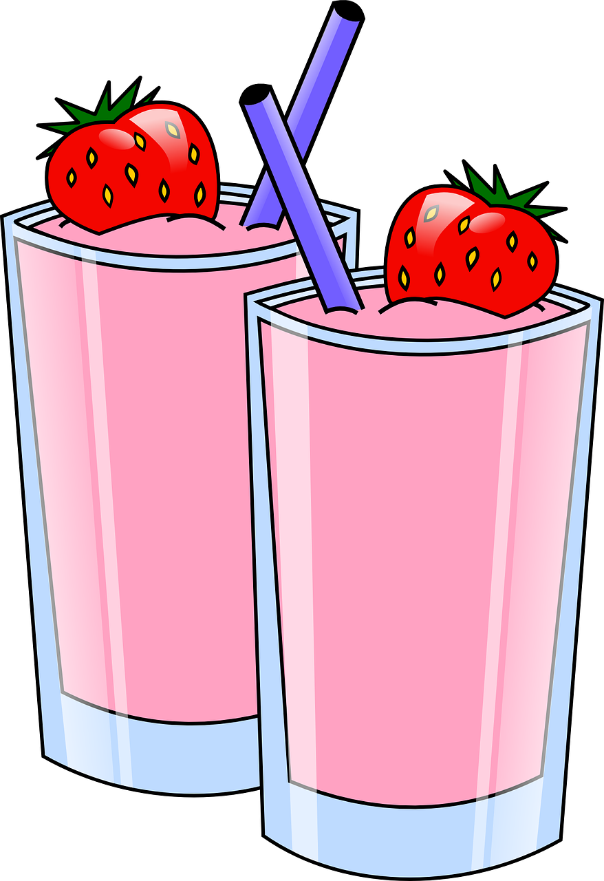 drinks strawberry pink free photo