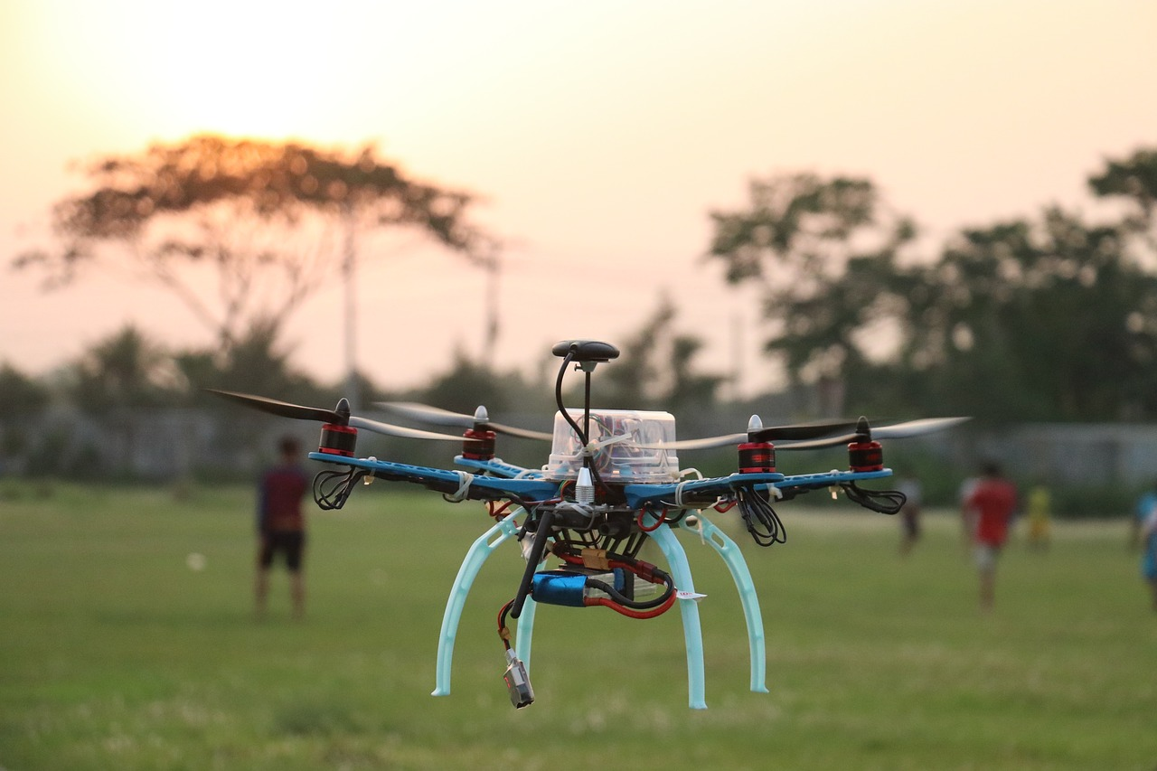 drone quadcopter technology free photo