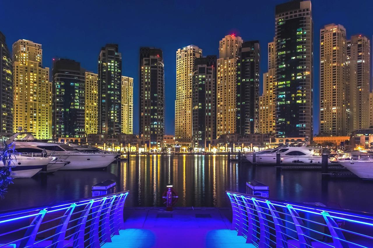 Dubai,dubai marina,emirates,gulf,illuminated - free image from ...