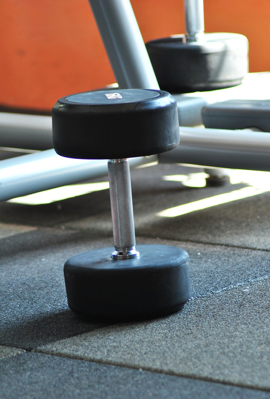 dumbbell gym weight free photo