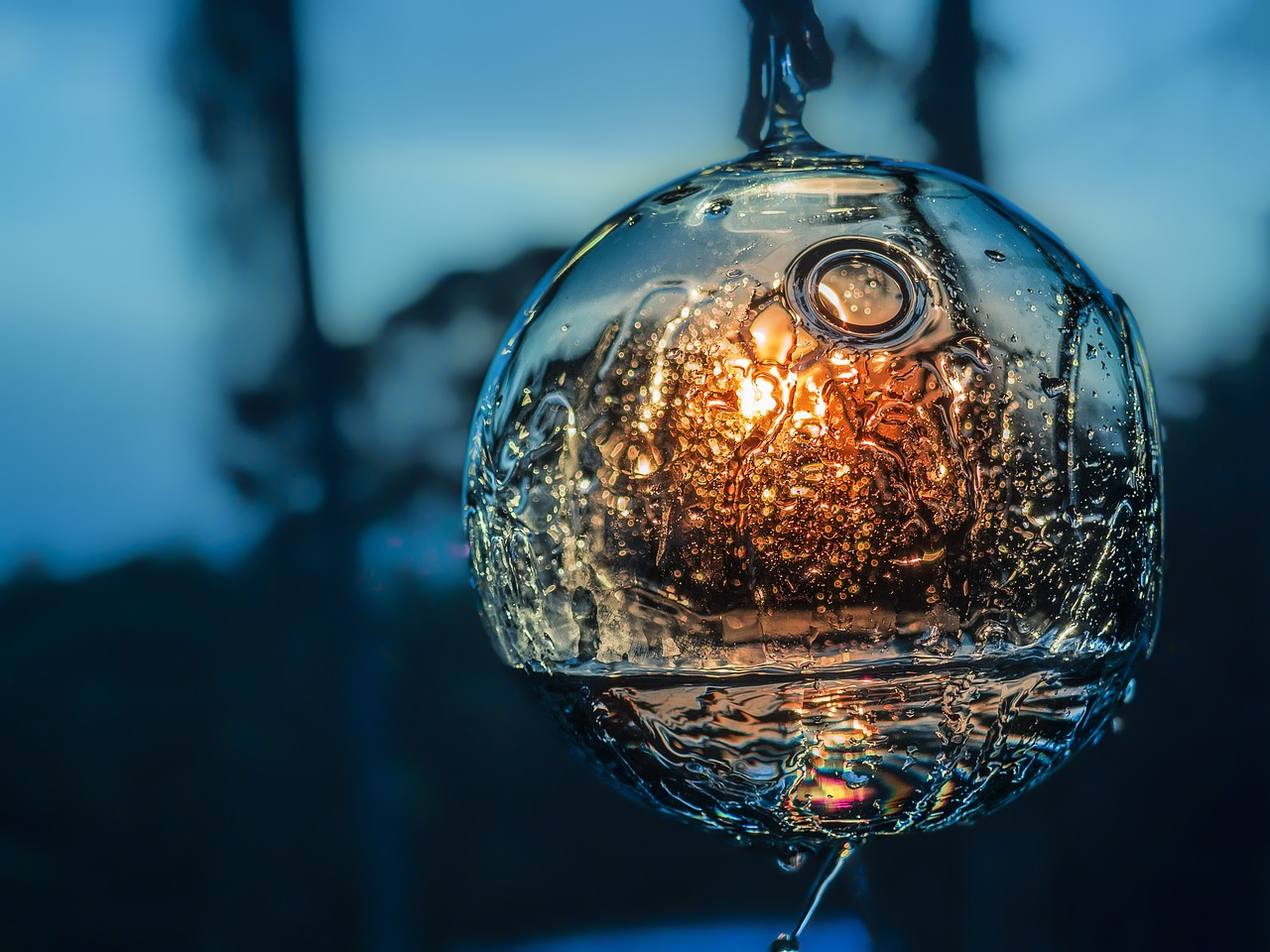 dusk sphere water reflection free photo