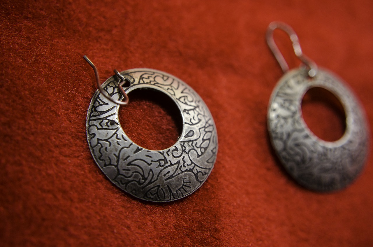 earrings indian silver free photo