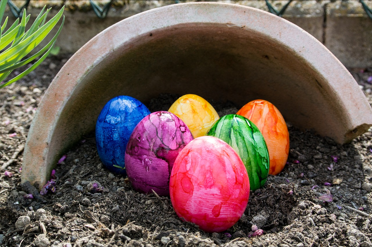 easter eggs easter colorful free photo