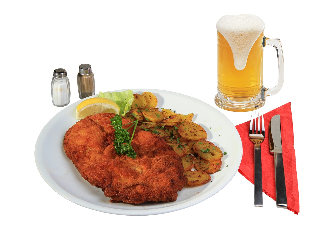 eat schnitzel breaded free photo