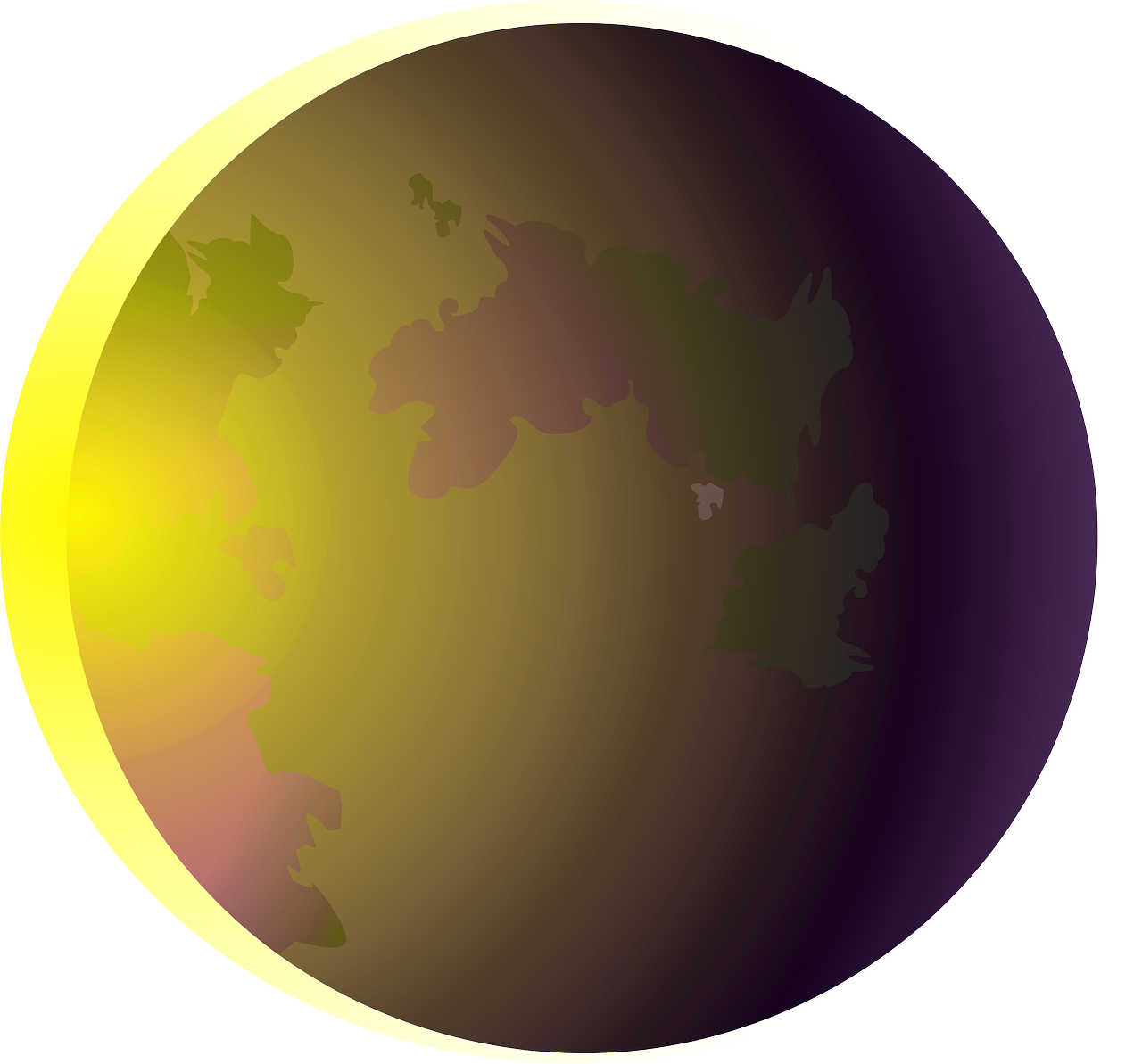 eclipse,solar eclipse,celestial,obscure,hidden,moon,sun,earth,planet,partial eclipse,free vector graphics,free pictures, free photos, free images, royalty free, free illustrations, public domain