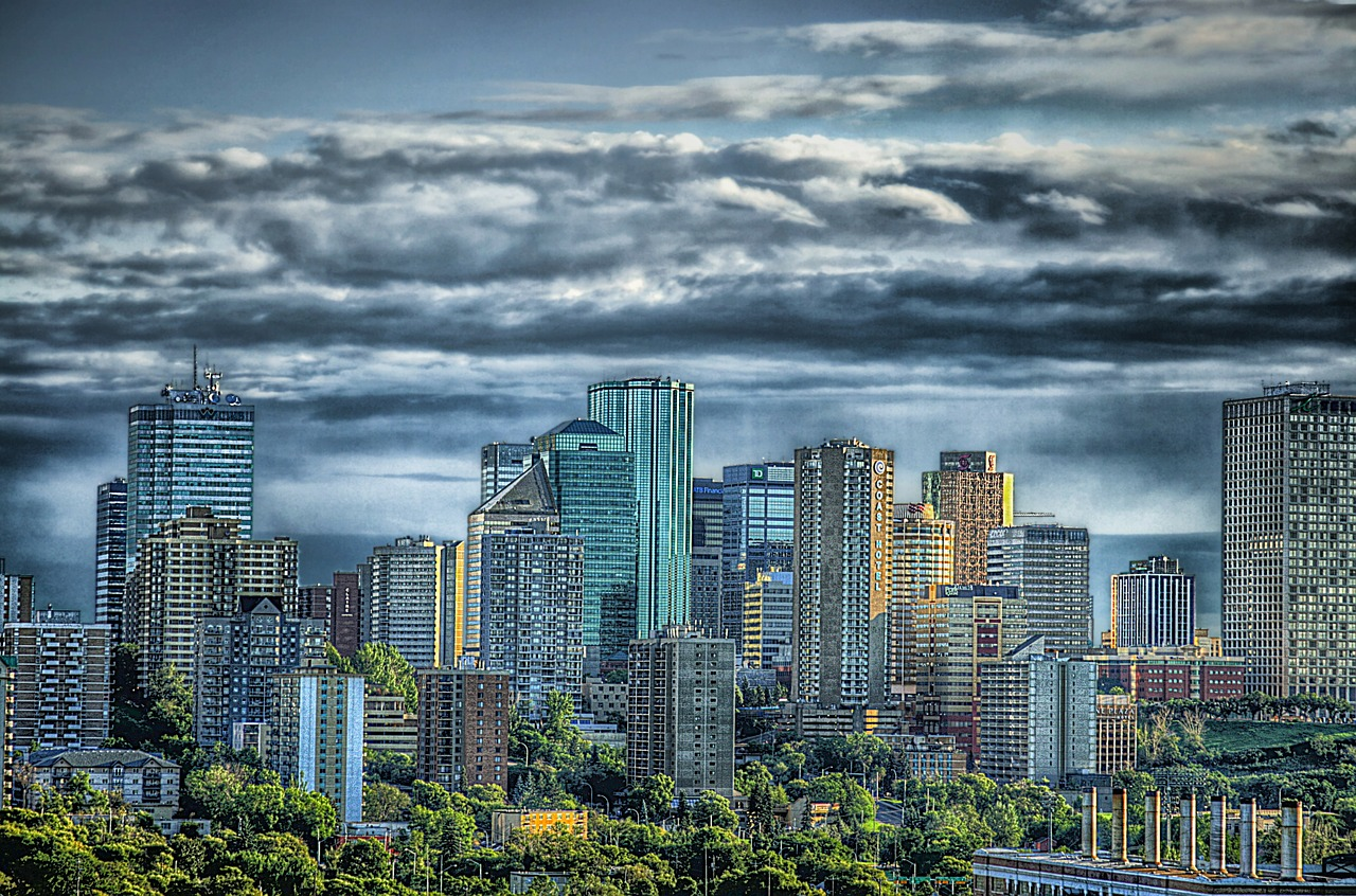 edmonton canada skyline free photo