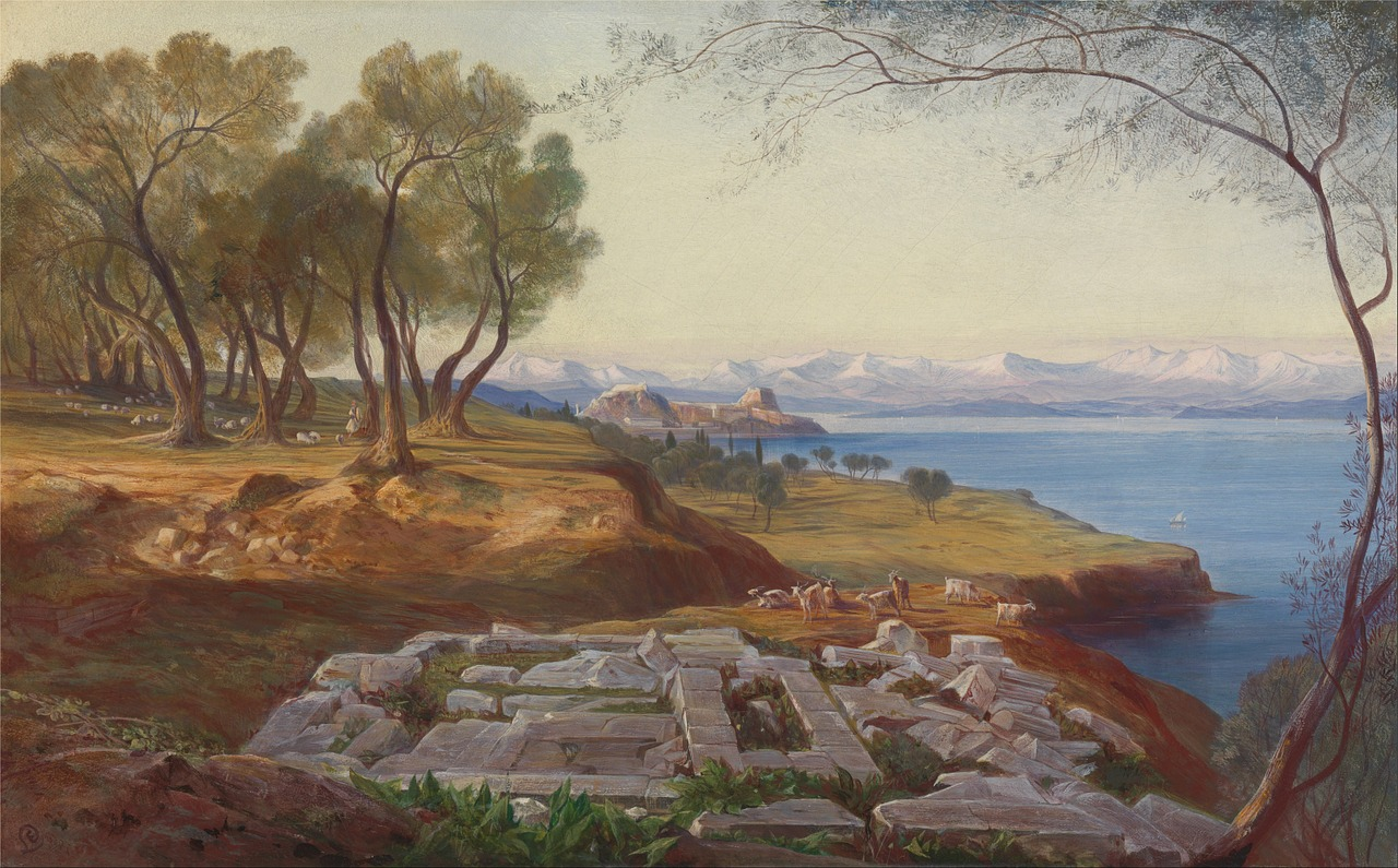 edward lear painting oil on canvas free photo