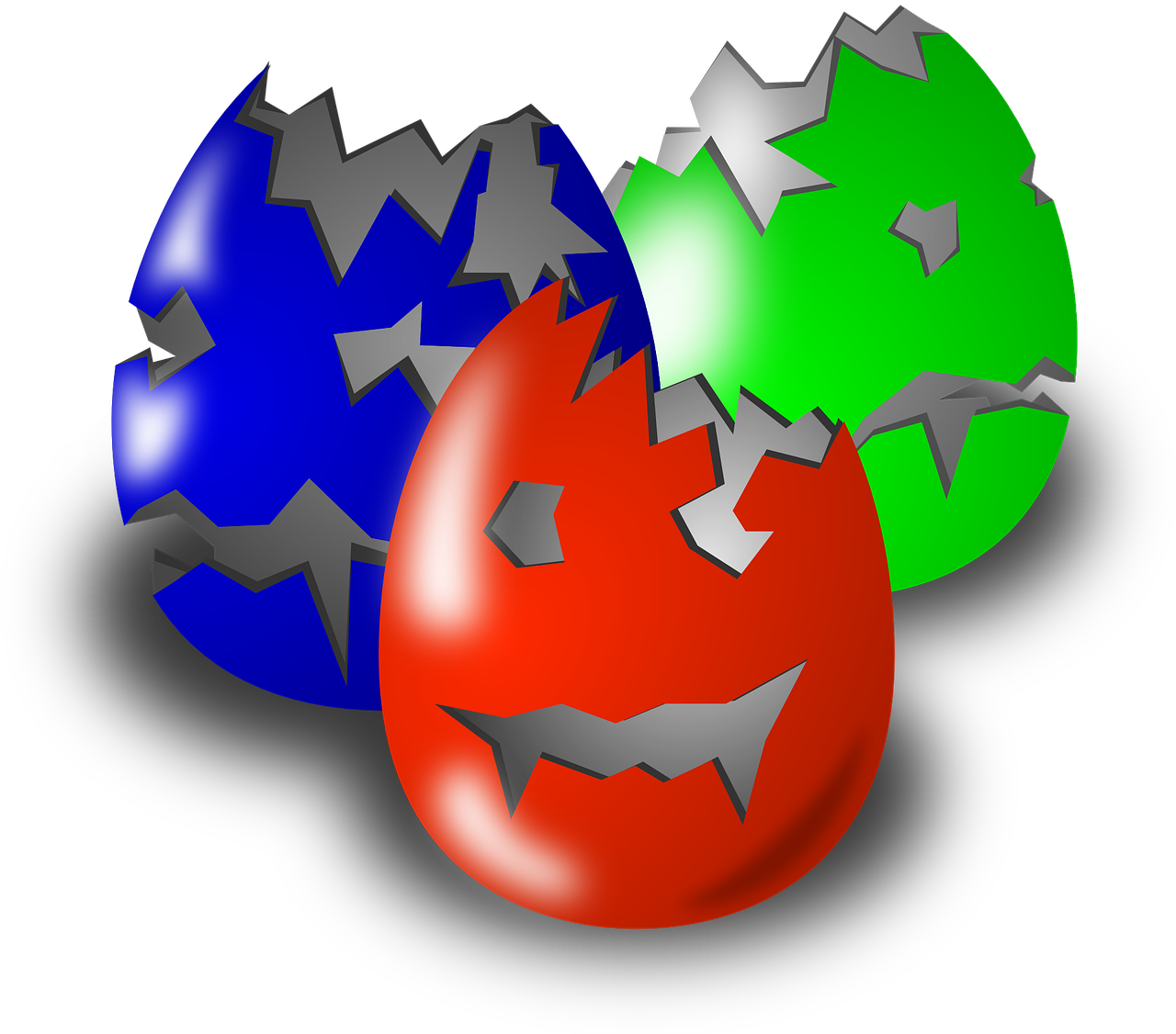 eggs,easter,carved,scary,red,green,blue,free vector graphics,free pictures, free photos, free images, royalty free, free illustrations, public domain