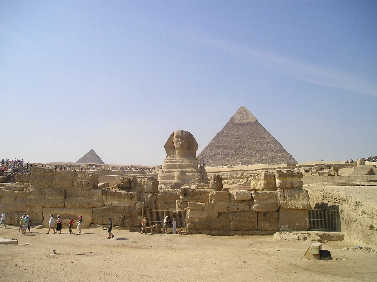 egypt sphinx pyramids free photo