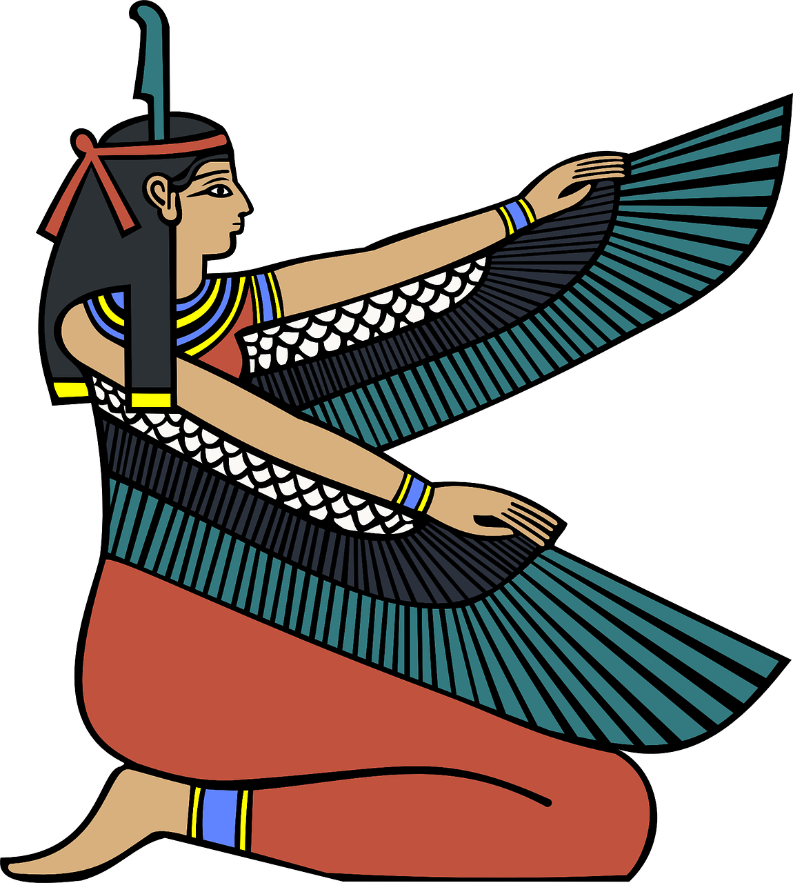 egyptian,goddess,ancient,queen,cultures,cultural,belief,myths,history,historical,characters,mythology,free vector graphics,free pictures, free photos, free images, royalty free, free illustrations, public domain