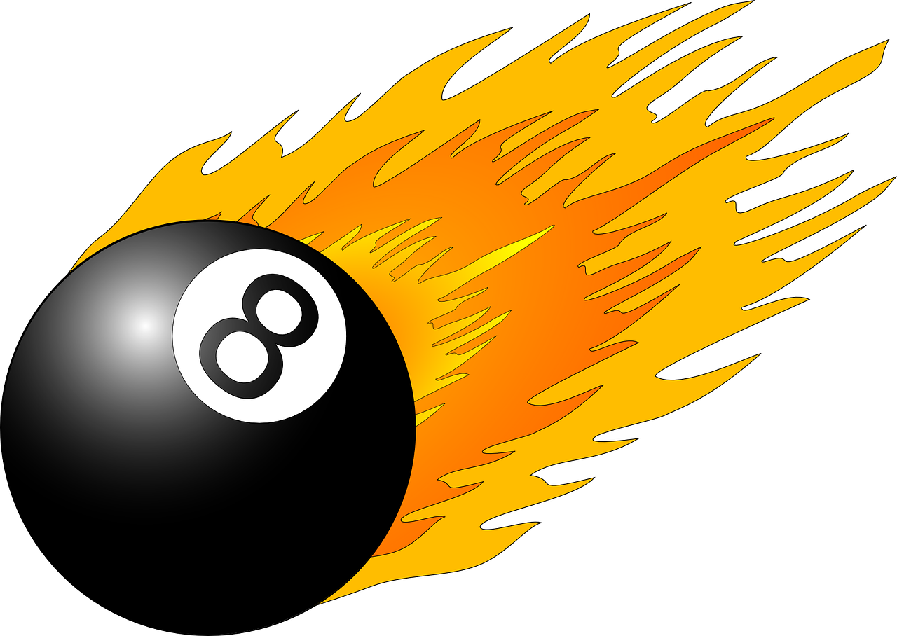 eight,ball,flame,pool,snooker,black,orange,number,fire,8,billiard,free vector graphics,free pictures, free photos, free images, royalty free, free illustrations, public domain