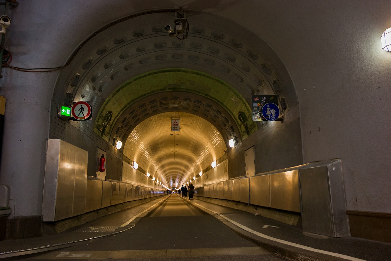 elbe tunnel hamburg tunnel free photo