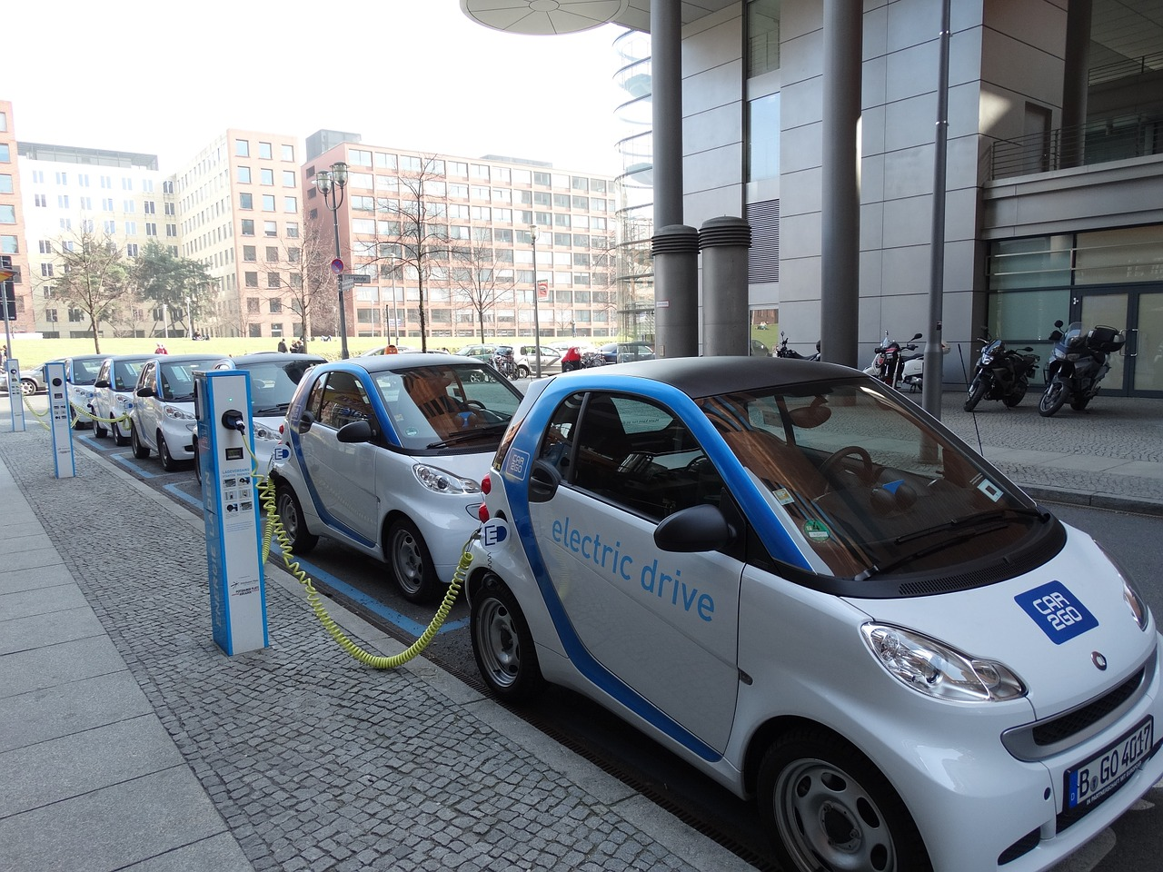 electric car parking loading free picture