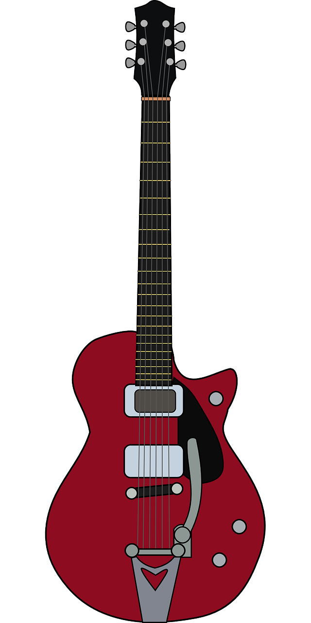 electric guitar music red free photo