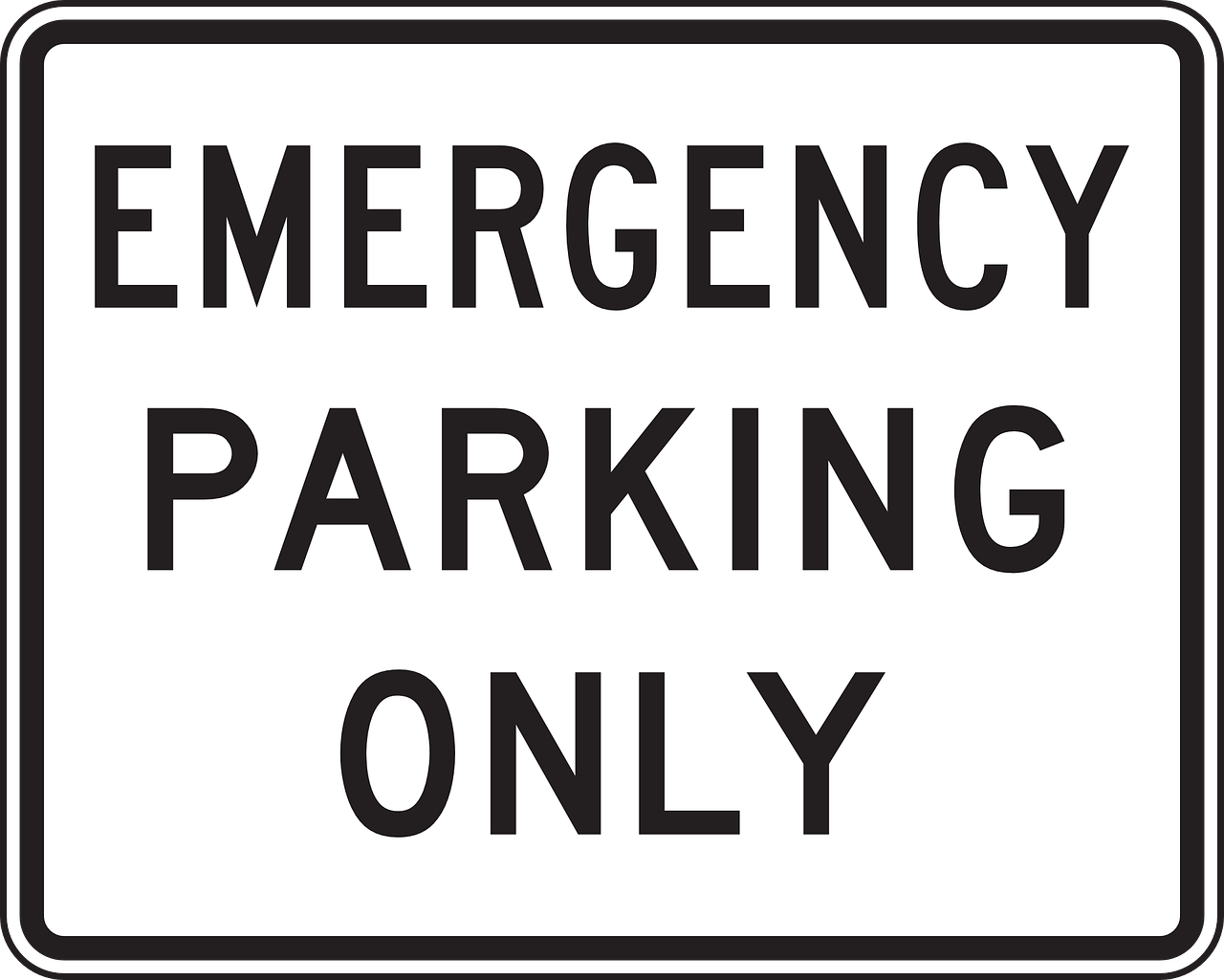 emergency parking only free photo