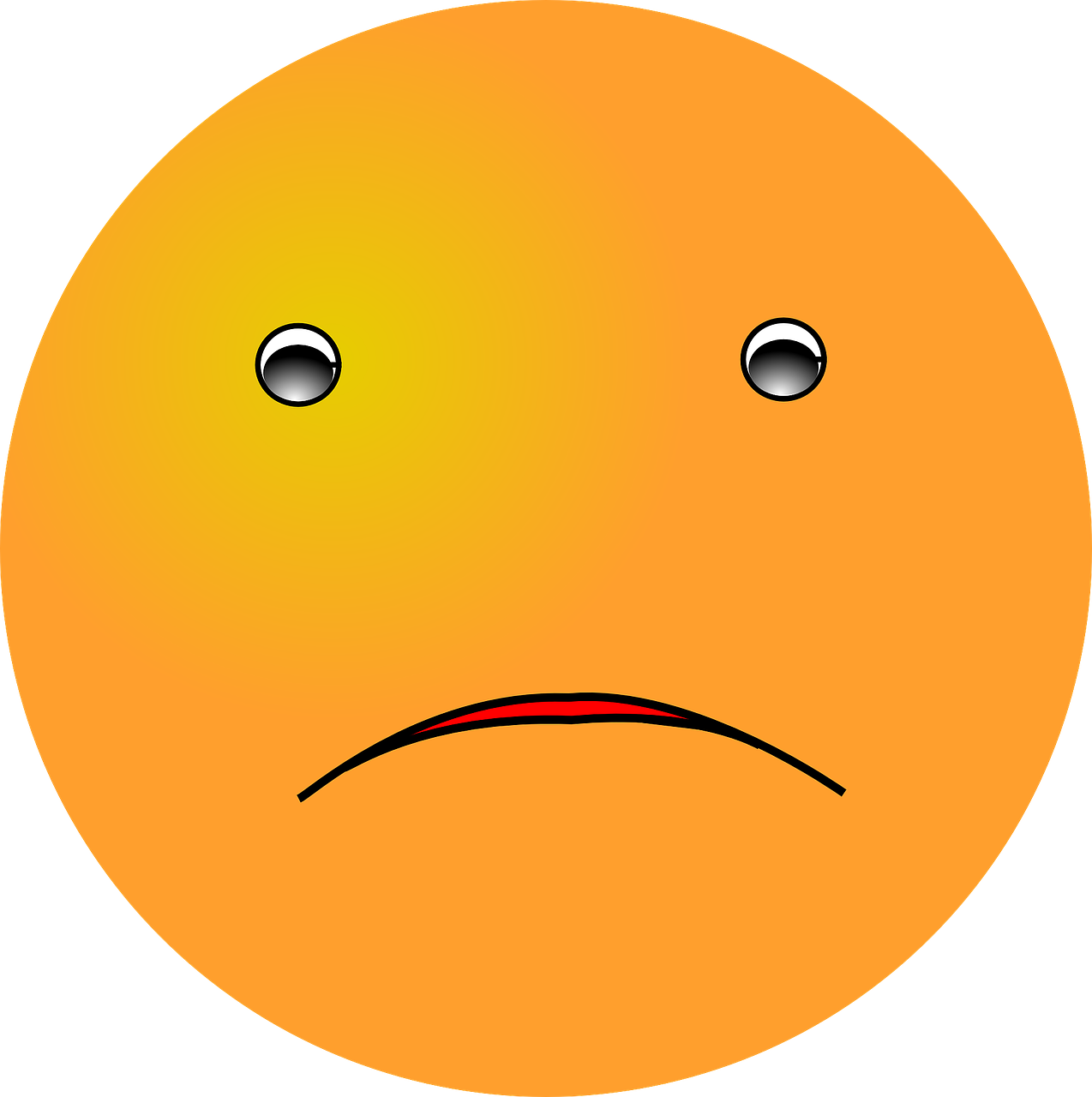 emoticon sad expression free photo