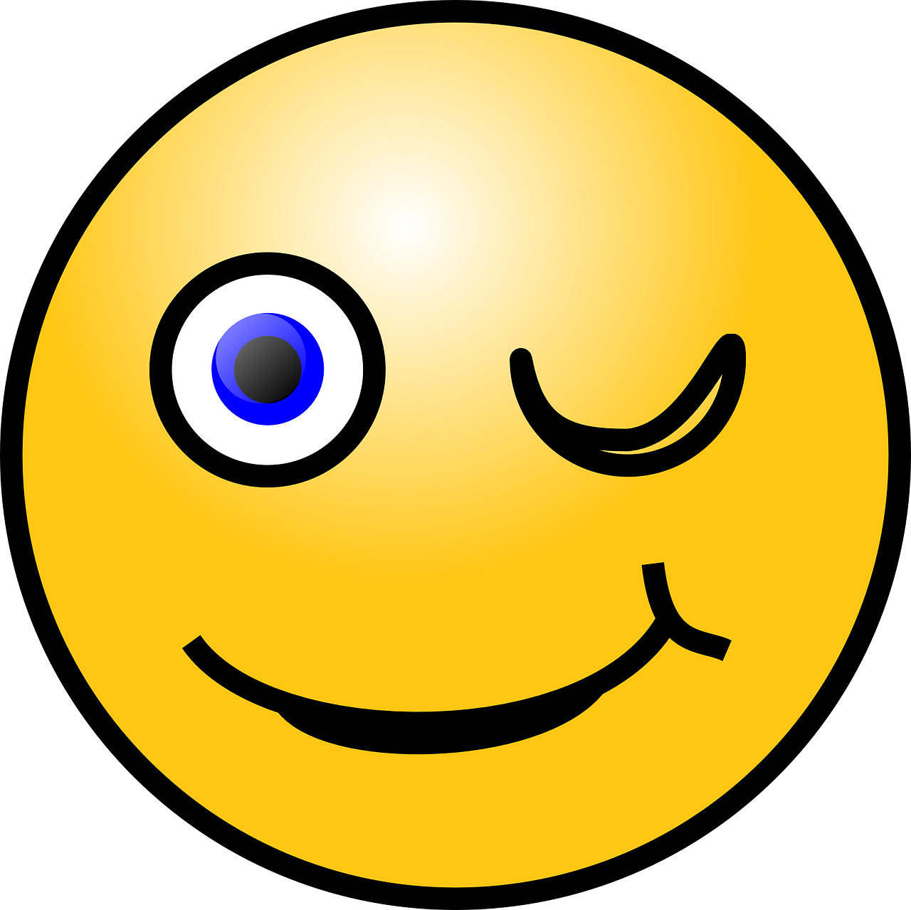 emoticon winking smiley free photo