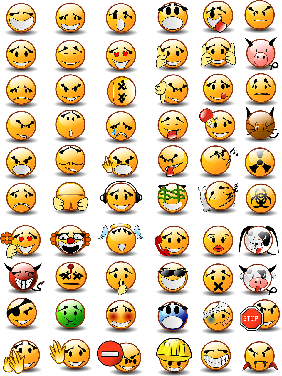 emoticons set collection free photo