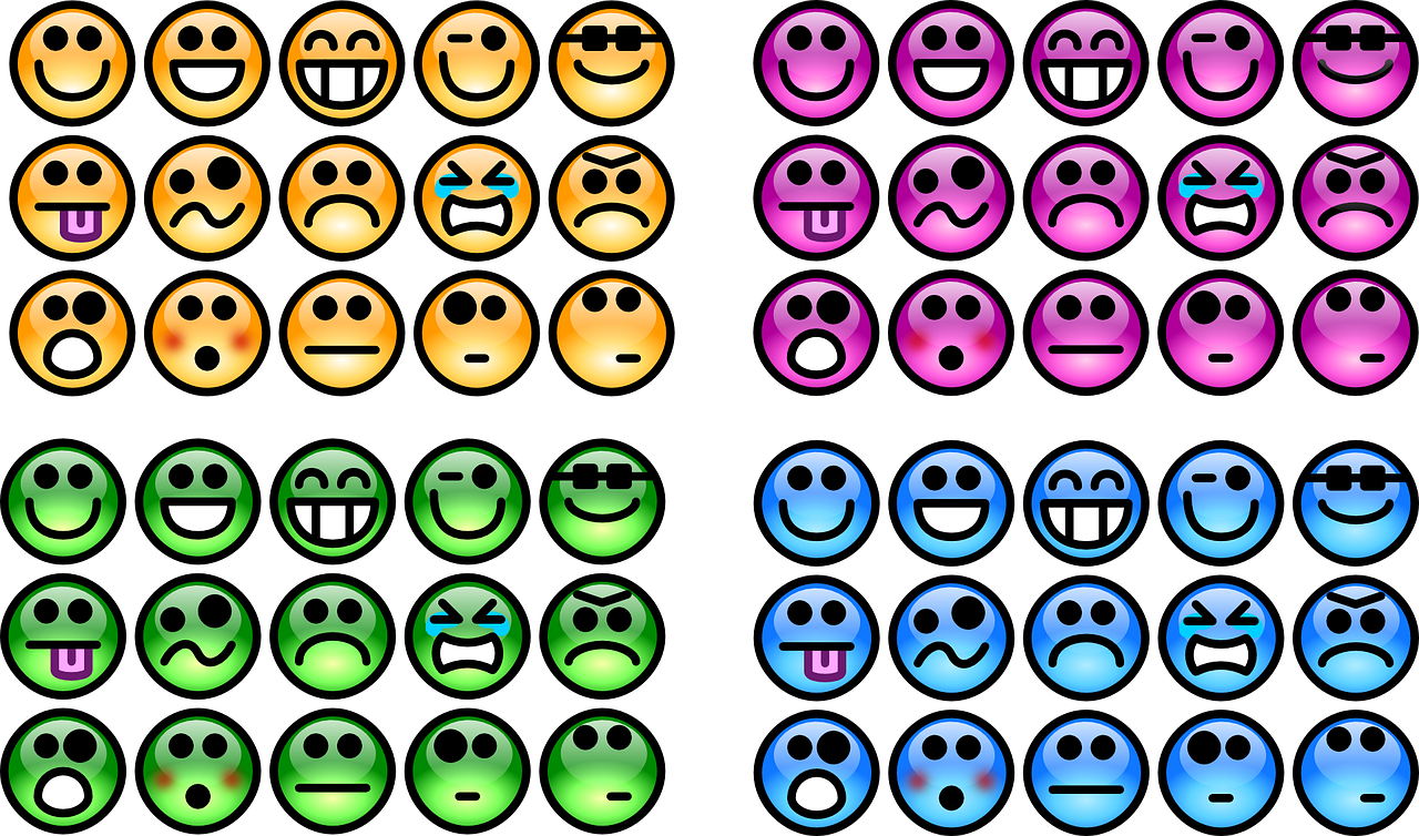 emotions smileys colours free photo