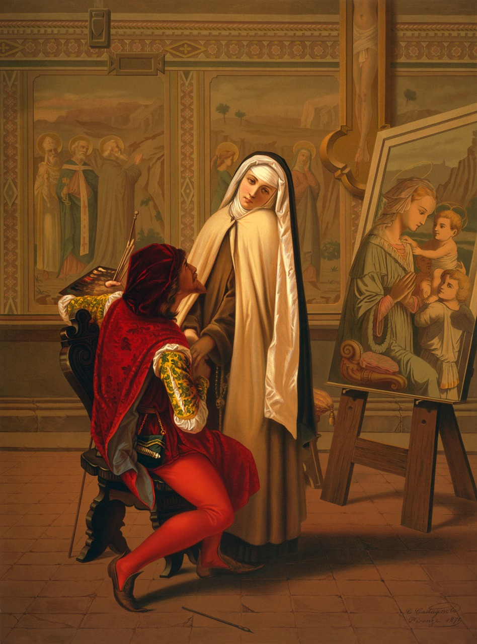 emulsion,artwork,painting,nun,love or duty,1873,gabriele castagnola,free pictures, free photos, free images, royalty free, free illustrations, public domain