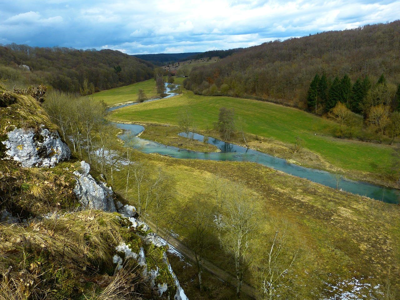eselsburg valley brenz river free photo