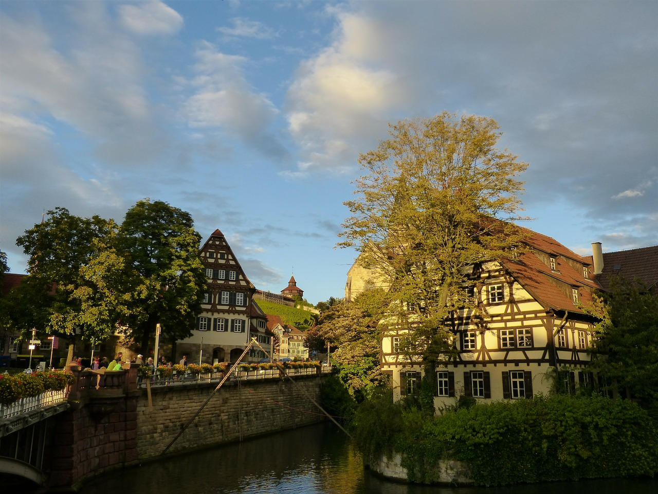 esslingen old town truss free photo