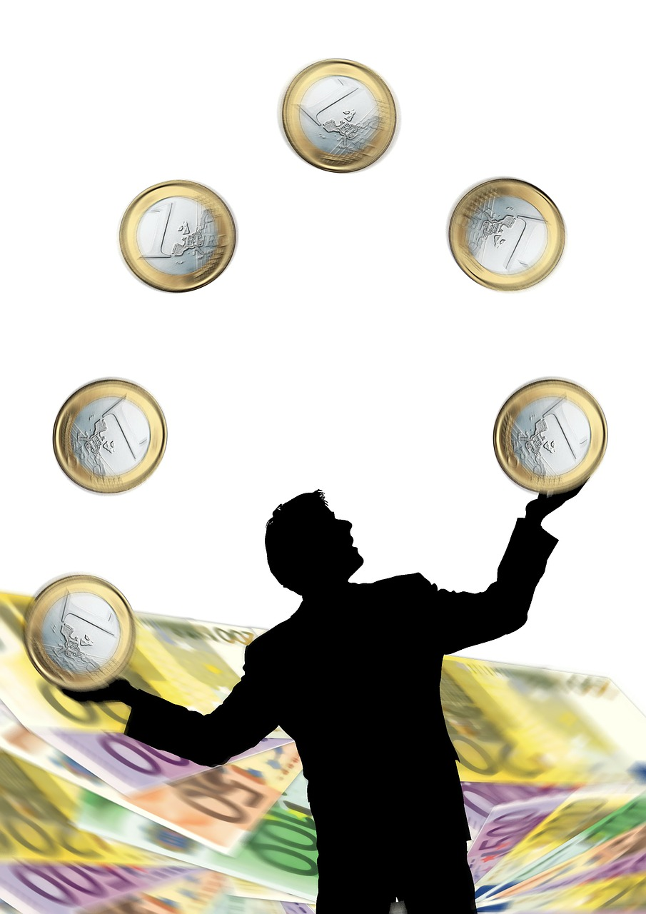 euro coins man free photo