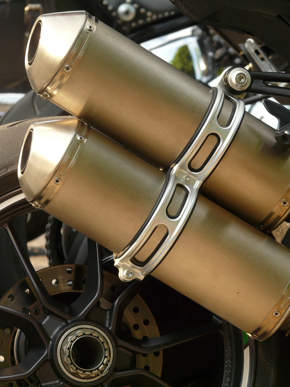 exhaust exhaust pipes motorcycle free photo