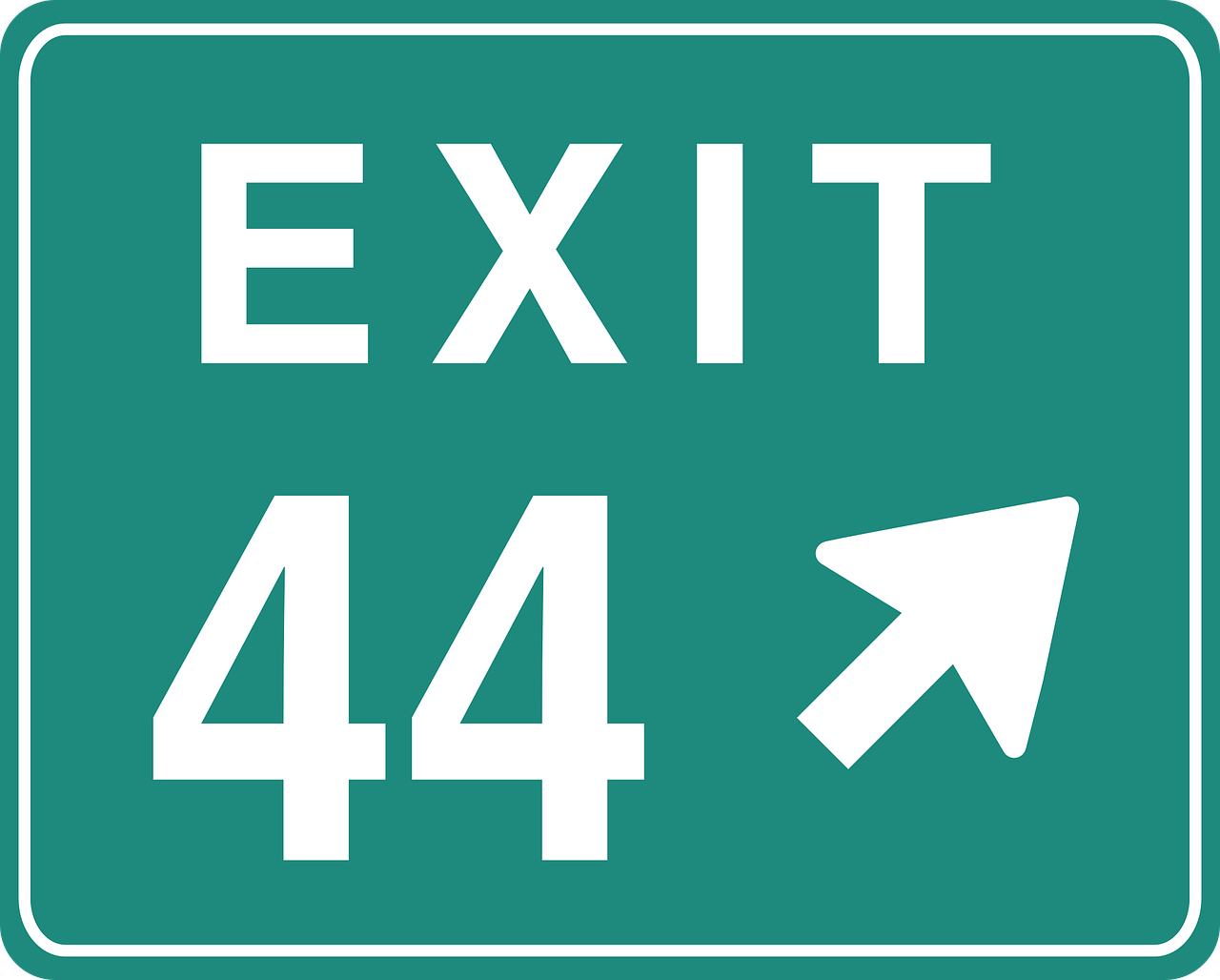 exit 44 sign free photo