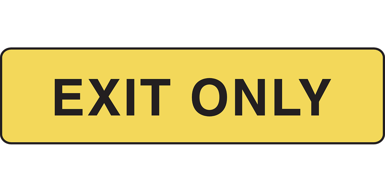 exit only sign free photo
