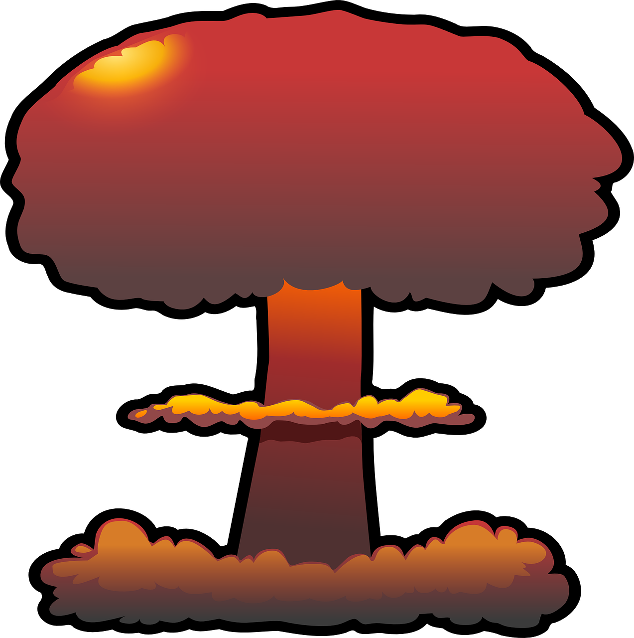 explosion nuclear cloud free photo