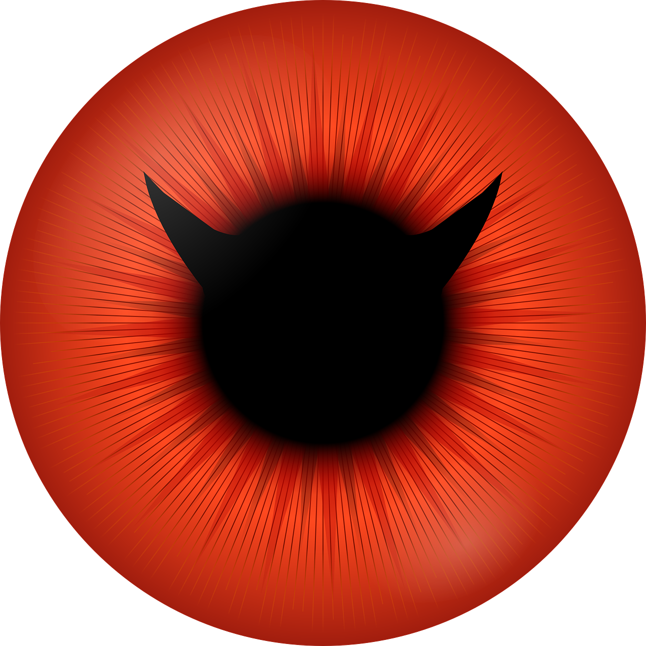 eye,red,circle,smiley,iris,pupil,ring,devil,free vector graphics,free pictures, free photos, free images, royalty free, free illustrations, public domain