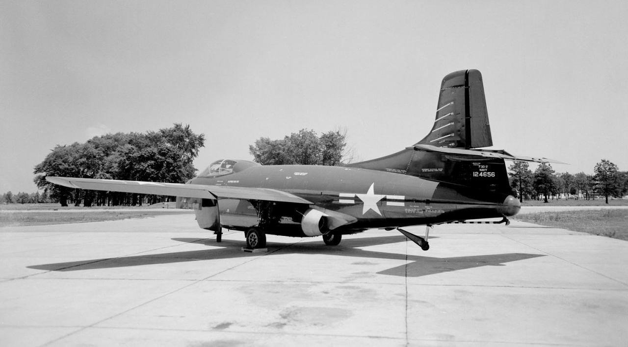 f3d skyknight twin engined jagdflugzeug us navy free photo