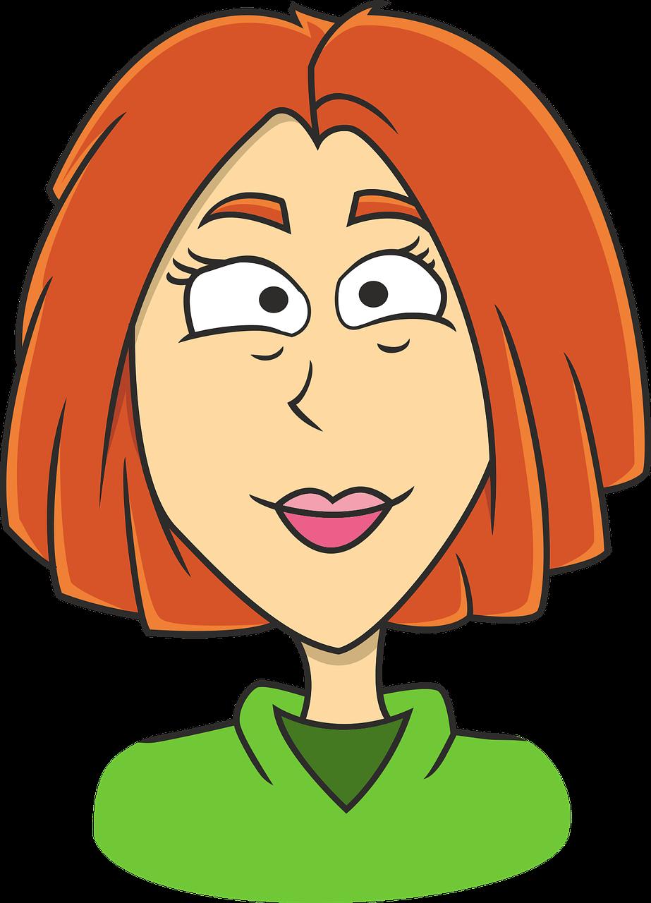 cartoon woman face - 519×720