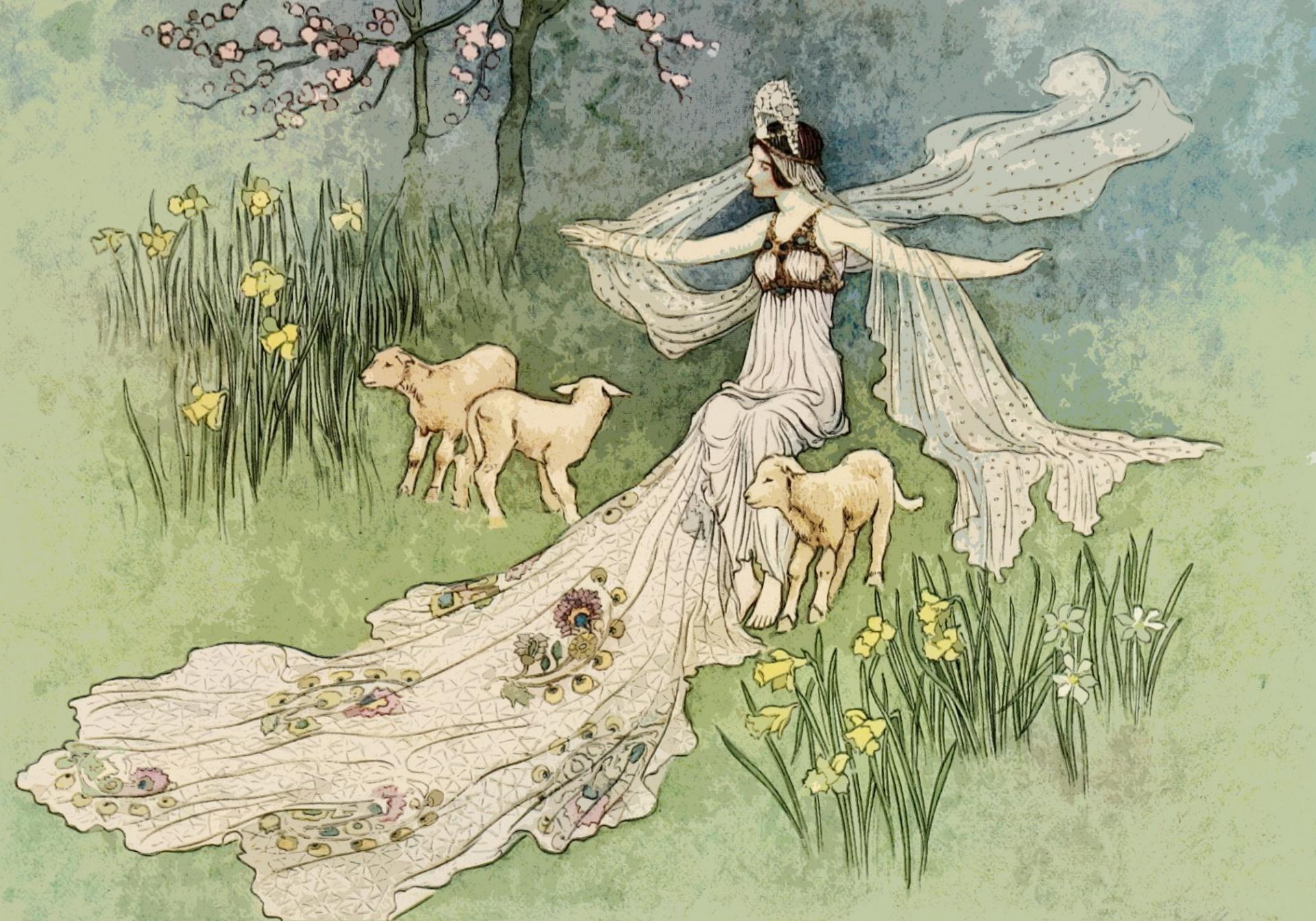 Fairy tail illustration. Clipart clip art graphic
