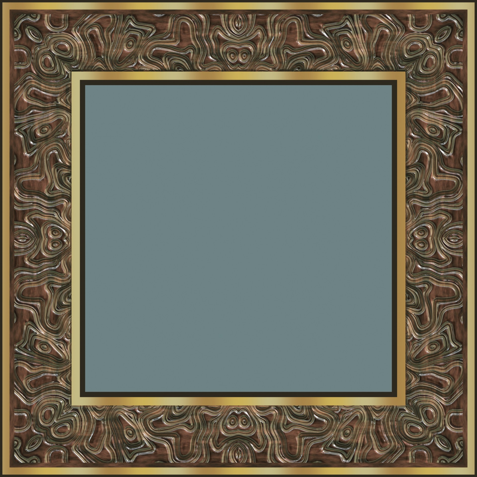 Fancy Frame Square Carving Metal Free