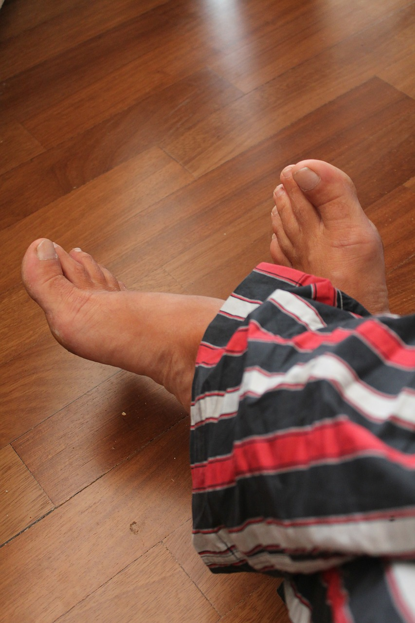 feet pajamas parquet free photo