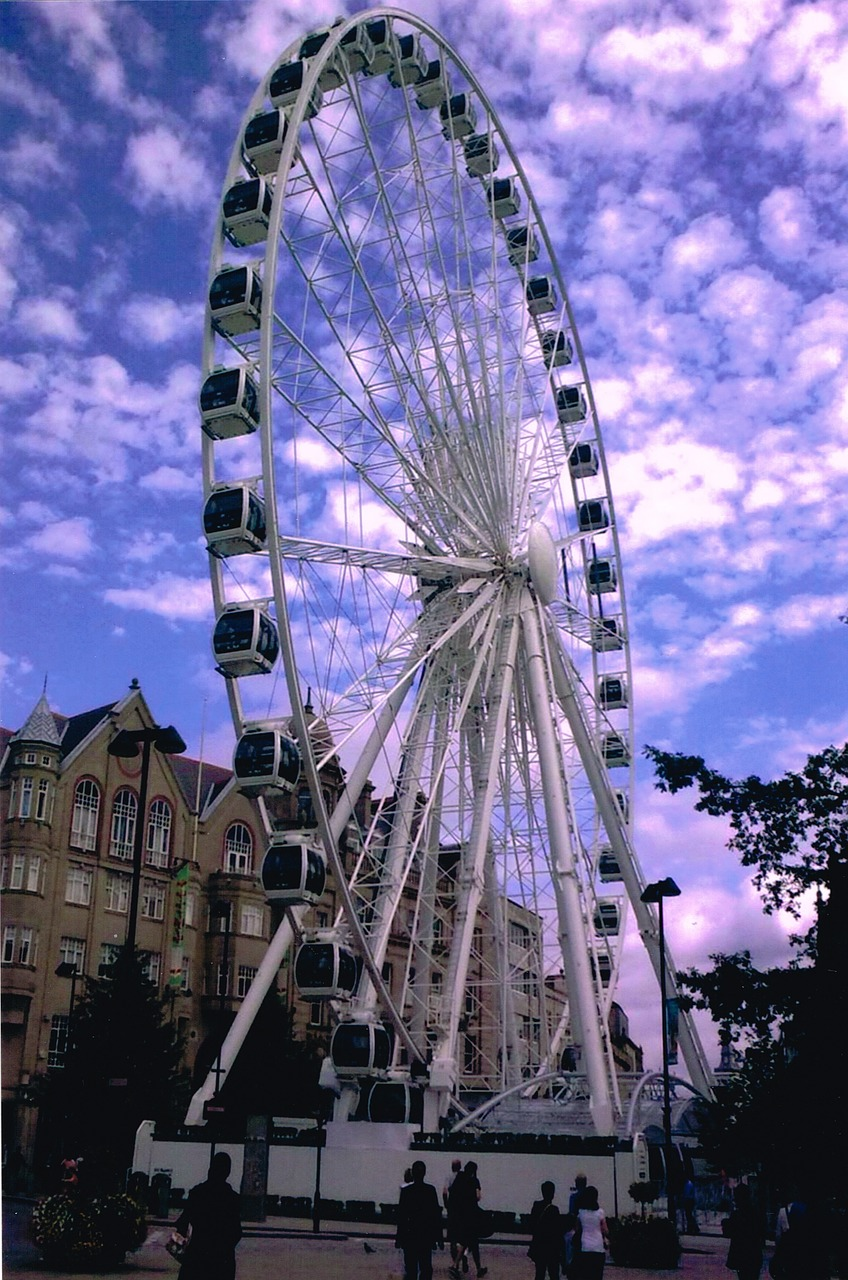 ferris wheel sheffield uk free photo