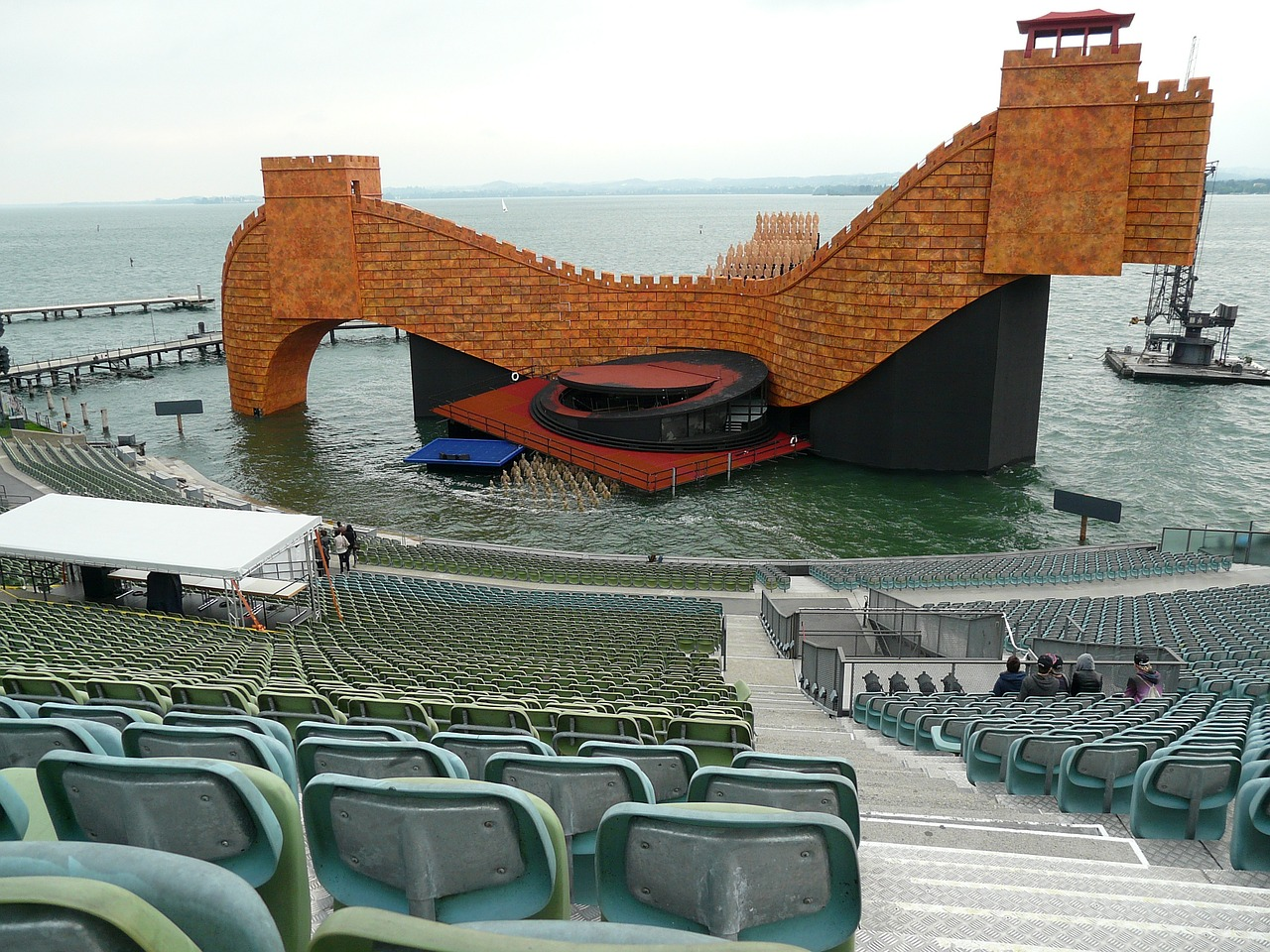 festive games of bregenz turandot stage festival stage free photo