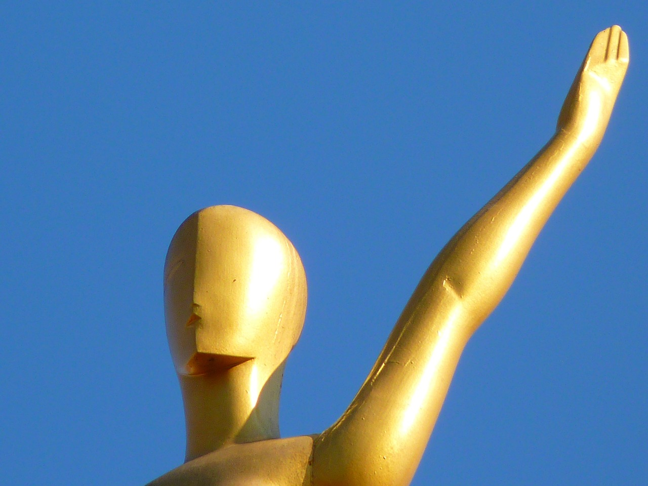 figure golden sky free photo